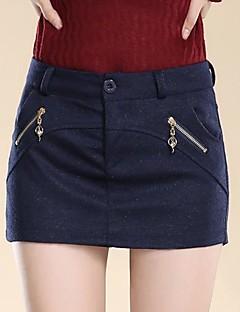 случайный микро упругой среде женщин выше колена юбки (шерстяные смеси)