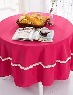 """couleur rose nappe ronde avec crochet, polyester dia. (70 """"), 200cm (78"""")"""