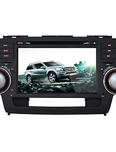 Toyota Highlander 2008-2011 Car DVD Player Android4.4 2 Din 8'' 800 x 480Built-in Bluetooth/GPS/Radio/WIFI/3D UI
