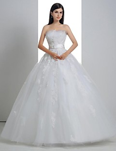 Robe de Mariage - Blanc Robe de Bal Sans Bretelles Ras du Sol Ras du Sol