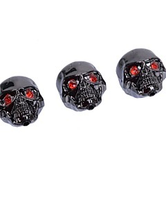 3 Pcs Black Metal Skull Head Control Knobs for Electric Guitar Guitar Pots Tone Volume Control Knobs/Buttons