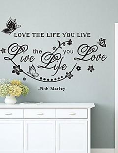 muurstickers muur stickers, engels woorden&citeert pvc muurstickers