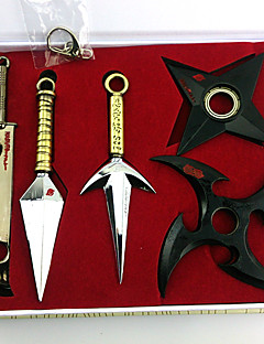 Naruto Momochi Zabuza Kunai Weapons 5 Pieces Cosplay Accessories Set