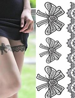 Andre - Tatoveringsklistremerker - Non Toxic/Korsryggen/Waterproof - Papir - 1 - 20*14.5cm (7.87*5.71in) - Legs Sexy Silk Stockings Bowknot - til
