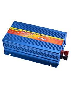 suoer faa-1000B 1000w dc 24v aan ac 230v zonne-energie omvormer met +/- bescherming omgekeerde batterij (blauw)
