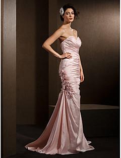 Lanting Bride® Syrena Drobna / Rozmiar Plus Suknia ślubna Kolorowe suknie ślubne Tren w stylu sądowym W kształcie serca Tafta z