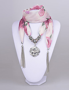 D Exceed Women Rose Polyster Scarf necklace