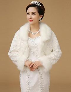 piel envuelve chales de lana de manga larga bolero blanco encogimiento