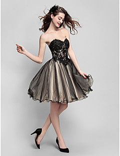 TS Couture® Cocktail Party Dress - Multi-color Plus Sizes / Petite Ball Gown Sweetheart Knee-length Tulle