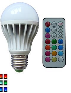 1 pcs SchöneColors® E26/E27 10W 3X High Power LED Dimmable/Remote-Controlled/Decorative RGB LED Globe Bulbs AC85-265V