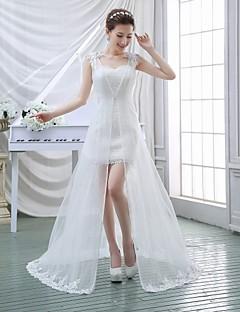 웨딩 드레스 - 화이트 A 라인 스위프/브러쉬 트레인 스윗하트 레이스