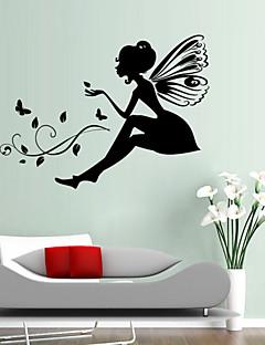 Wandaufkleber Wandtattoo, Stil geschnitzte Version Blumenfee Mädchen PVC-Wandaufkleber