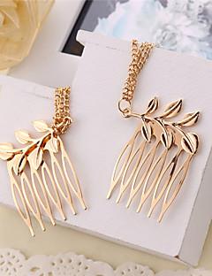 Women's Leaf Chain Tassel Comb