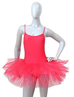 בלט חצאיות טוטו וחצאיות בגדי ריקוד נשים בגדי ריקוד ילדים ביצועים ניילון טול לייקרה חלק 1 שמלות