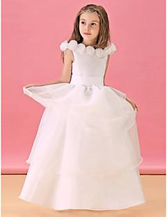 Cvjetni Djevojka haljina - Retka - Kat duljine - Bateau