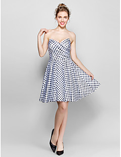 Homecoming Cocktail Party Dress A-line Sweetheart Knee-length Stretch Satin