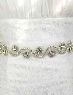 Fusciacca Fasce da donna Raso/tulle Matrimonio/Party/serata Con cristalli/Diamantini