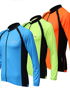 REALTOO® חולצת ג'רסי לרכיבה לנשים / לגברים / יוניסקס שרוול ארוך אופניים נושם / ייבוש מהיר / עמיד אולטרה סגול ג'רזי / צמרות ספנדקסקלאסי /