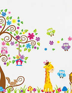 Animals Wall Stickers Plane Wall Stickers Decorative Wall Stickers,PVC Material Removable Home Decoration Wall Decal