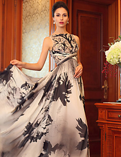Formal Evening Dress Princess Bateau Floor-length Silk Dress