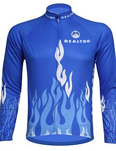 Mailliot Cyclisme - Respirable/Résistant aux ultraviolets/mèche  à Manches longues Homme Extensible S/M/L/XL/XXL/XXXL