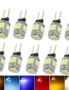 Spot LED Décorative Blanc Chaud / Blanc Froid / Blanc Naturel / Rouge / Bleu / Jaune / Vert SENCART 10 pièces T G4 1.5W 5 SMD 5050 90-120