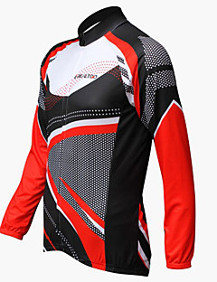 REALTOO® Cycling Jersey Men's Long Sleeve Bike Breathable / Ultraviolet Resistant Jersey / Tops Spandex Classic / PatchworkSpring /