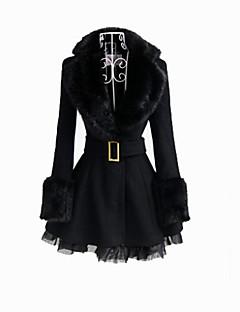 Kabát Klasická a tradiční lolita Černá Lolita Příslušenství Kabát / Pásek Pro Dámský Vlna