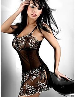 Ženy Satén a hedvábí / Ultra sexy / Košilka na ramínka / Uniformy a kostýmy / Kostýmy / Kombiné / Krajkové prádlo Noční prádlo Žakár-