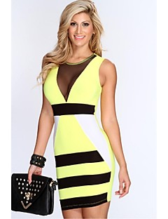 Column Jewel Short/Mini Spandex/Polyester  Bandage Dress