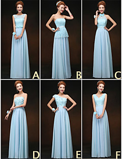 Mix & Match Dresses Floor-length Chiffon and Lace 6 Styles Bridesmaid Dresses (3227691)