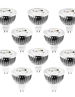 4W GU5.3(MR16) LED Spotlight MR16 4 High Power LED 360-400 lm Warm White / Cool White / Natural White Dimmable DC 12 / AC 12 V 10 pcs