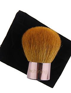 lashining grande pennello kabuki polvere professionale per strumento trucco viso bellezza dono uno flannelette del nero