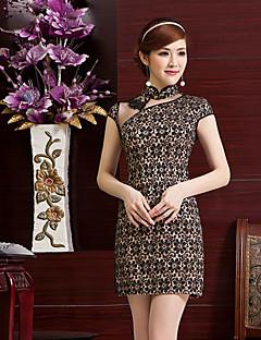 Dress Sheath/Column High Neck Short/Mini Lace Dress
