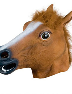 horse animal latex halloween hode maske