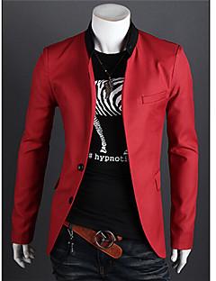 Retro/Ležérní/Párty/Práce Dlouhé rukávy - MEN - Suits & Blazers ( Bavlna/Viskózové vlákno )