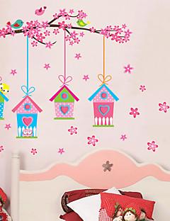 Botanisch Romantik Blumen Wand-Sticker Flugzeug-Wand Sticker Dekorative Wand Sticker,Vinyl Stoff Repositionierbar Haus Dekoration