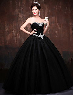 Dress Ball Gown Sweetheart Floor-length Lace/Satin/Tulle/Polyester Dress
