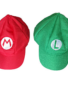 Anime/Videogame For Super Mario Bros. Alphabet Pattern Halloween Party Cosplay Hat