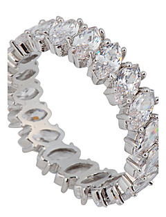 Γυναικεία Εντυπωσιακά Δαχτυλίδια Love κοσμήματα πολυτελείας Νυφικό κοστούμι κοστουμιών Ζιρκονίτης Πετράδι Προσομειωμένο διαμάντι Κοσμήματα