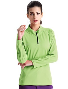Running Sweatshirt / T-shirt / Tops Women's Long Sleeve Breathable / Quick Dry / Wearable / Lightweight Materials PolyesterCamping &