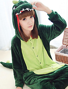 Kigurumi Pajamas Dinosaur Leotard/Onesie Halloween Animal Sleepwear Dark Green Patchwork Polar Fleece Kigurumi UnisexHalloween /