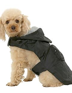pejsky Pláštěnka Červená Modrá Černá Oblečení pro psy Léto Jaro/podzim Jednobarevné Voděodolný