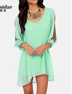 YUNTUO®Women's v-neck loose chiffon dress