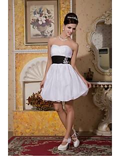 Cocktail Party Dress A-line Sweetheart Knee-length Taffeta