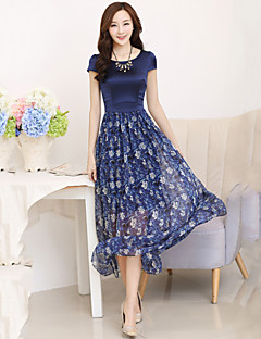 Women's Casual Dress Maxi Silk / Organza