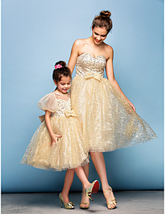 TS Couture® Cocktail Party Dress Plus Size / Petite Ball Gown Sweetheart Knee-length Sequined with Beading / Bow(s) / Sequins