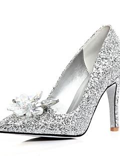 Серебристый - Свадебная обувь - Женский - На каблуках / С острым носком - Обувь на каблуках - Свадьба / Для праздника
