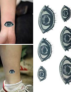 Tatuajes Adhesivos - Non Toxic/Parte Lumbar/Waterproof - Otros - Niños/Mujer/Hombre/Adulto/Juventud - Negro/Azul - Papel - 1 -6*10.5cm