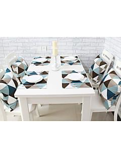 """4pcs style européen napperons de table de haute qualité de coton d'impression géométrique (12 """"x16"""")"""